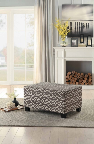 Tala Lift-Top Storage Coffee/Cocktail Ottoman - Brown