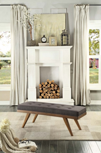 Bingsley Bench - Dark Grey