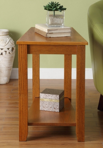 Elwell Chairside Table - Wedge - Oak