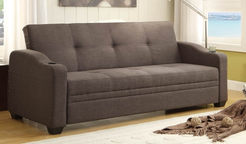 Caffrey Elegant Lounger Sofa Bed - Dark Grey