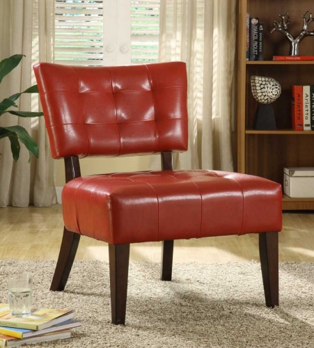 Warner Accent Chair - Lava Red