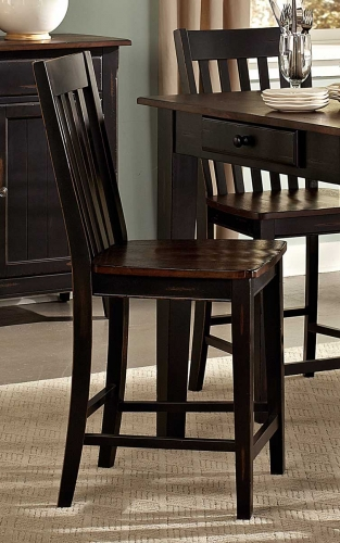 Three Falls Counter Height Chair - Two Tone Dark Brown/Black Sand
