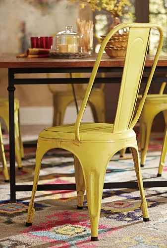 Amara Yellow Metal Chair - Yellow