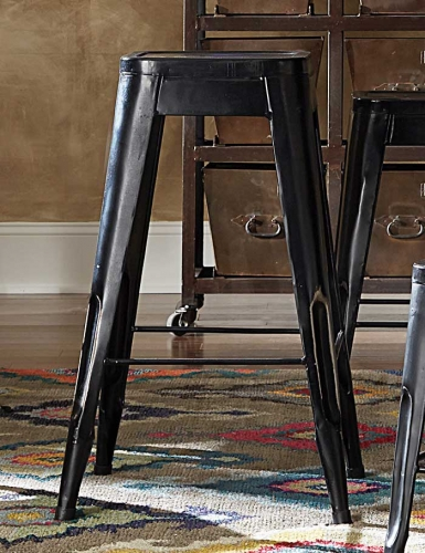 Amara 29in Metal Bar Stool - Black