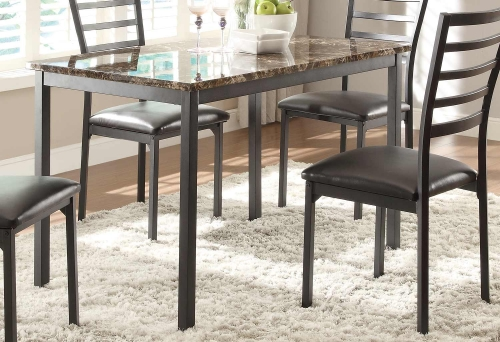 Flannery Dining Table - Black Metal