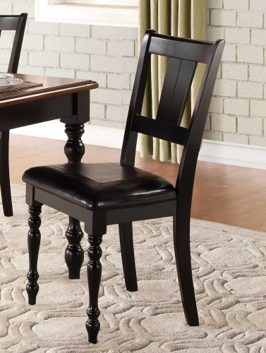 Laurel Grove Side Chair - Black/Cherry