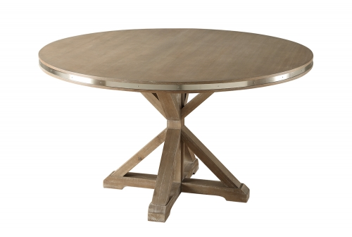 Beaugrand Round Dining Table - Brown
