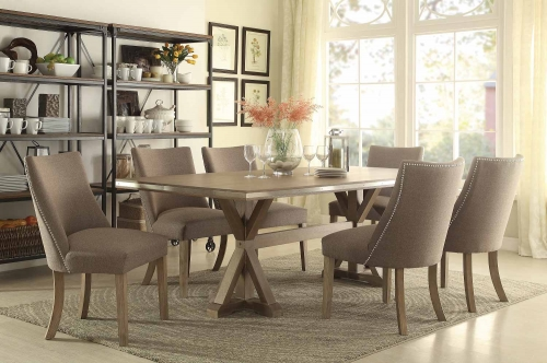 Beaugrand Dining Set - Brown