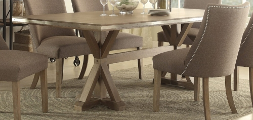 Beaugrand Dining Table - Brown