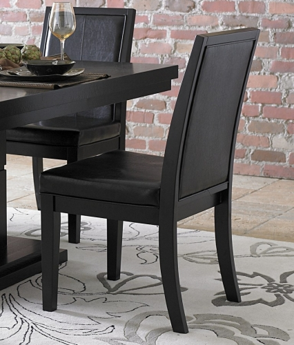 Cicero Side Chair in Black Leatherette