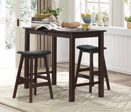 Wisdom 3-Piece Pack Counter Height Dining Set - Dark Espresso