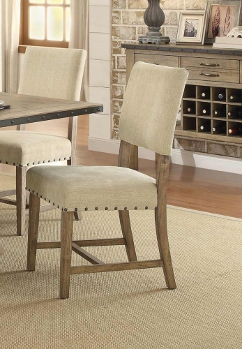 Veltry Side Chair - Weathered Finish