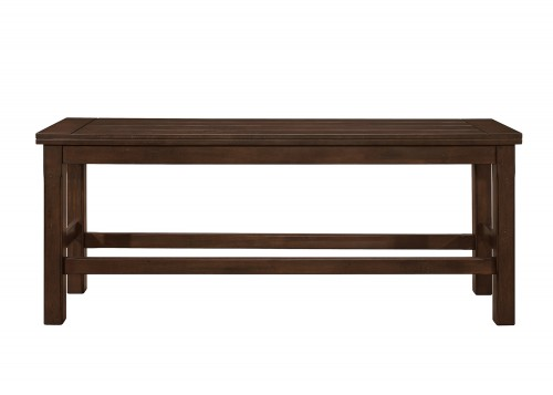 Schleiger Counter Height Bench - Dark Brown