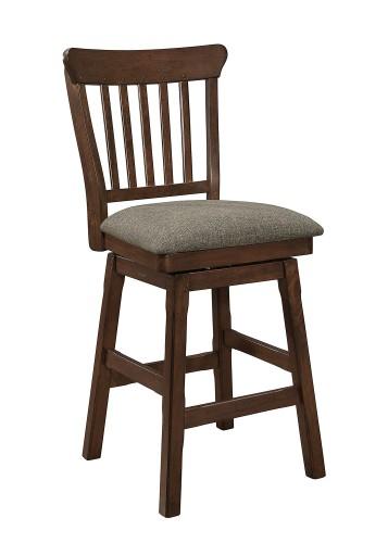 Schleiger Swivel Counter Height Chair - Dark Brown