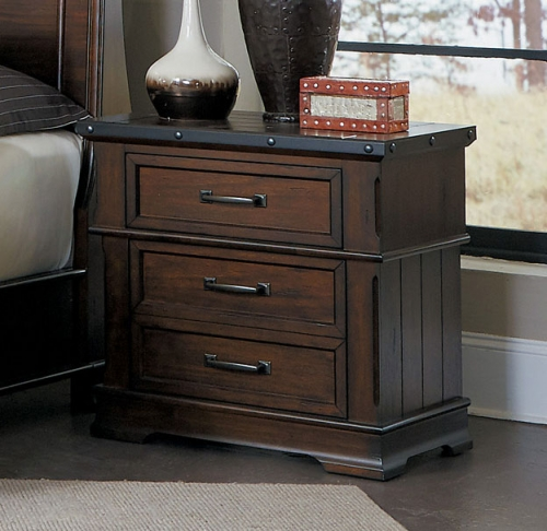 Schleiger Night Stand - Burnished Brown