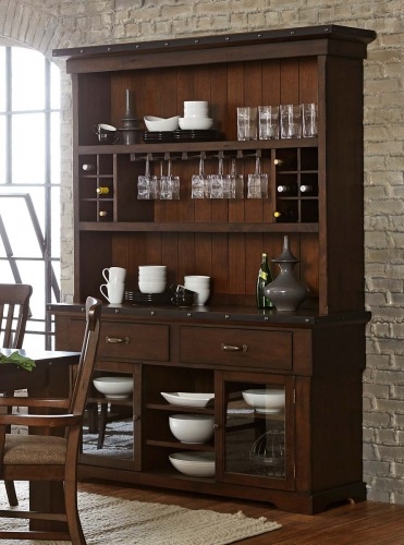 Schleiger China Cabinet - Burnished Brown