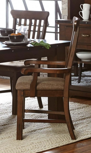 Schleiger Arm Chair - Burnished Brown