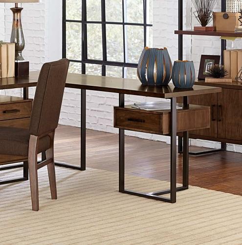 Sedley Reversible Return Desk with One Cabinet - Walnut