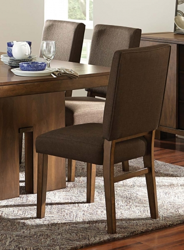 Sedley Side Chair - Walnut/Chocolate