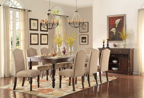 Benwick Dining Set - Dark Cherry