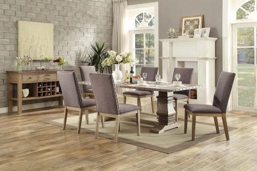 Anna Claire Dining Set S1 - Driftwood/Zinc