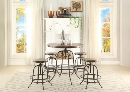 Angstrom Round Counter Height Dining Set - Adjustable Height B