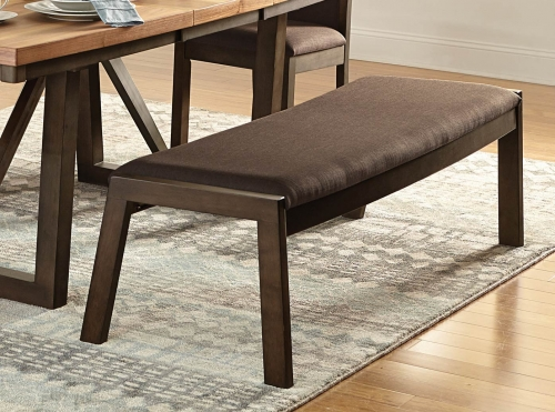 Compson 60-inch Bench - Natural/Walnut