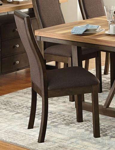 Compson Side Chair - Walnut/Chocolate
