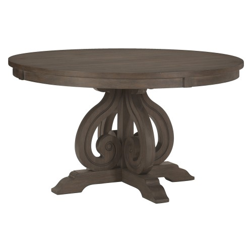 Toulon Round DiningTable - Wire-brushed Dark Pewter