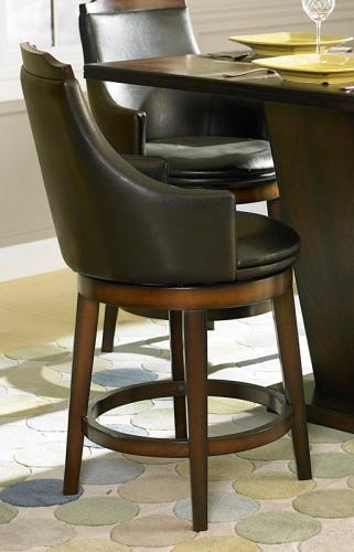 Bayshore Swivel Counter Height Chair - Leatherette