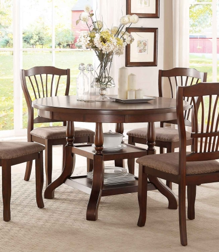 Frankford Round Dining Table - Brown