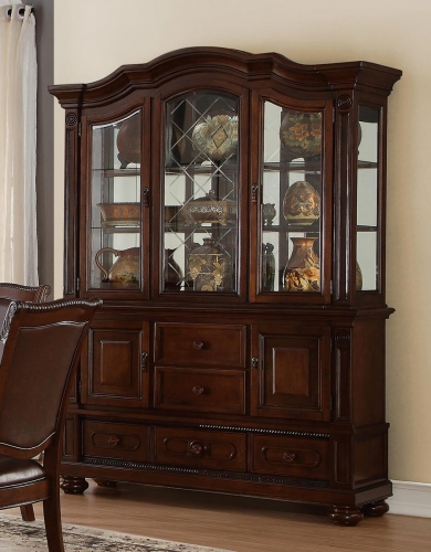 Lordsburg China Cabinet - Brown Cherry