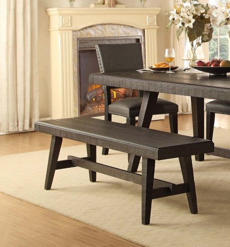 Fenwick 60-inch Bench - Dark Gray