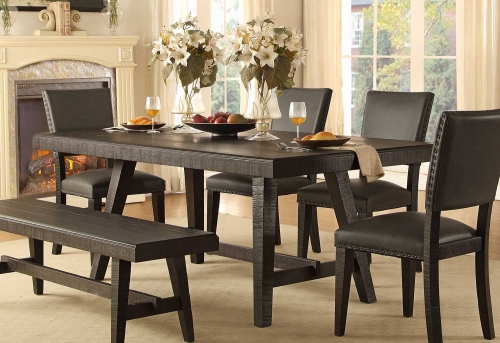 Fenwick Rectangular Dining Table - Dark Gray