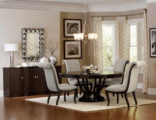 Savion Round/Oval Dining Set - Espresso