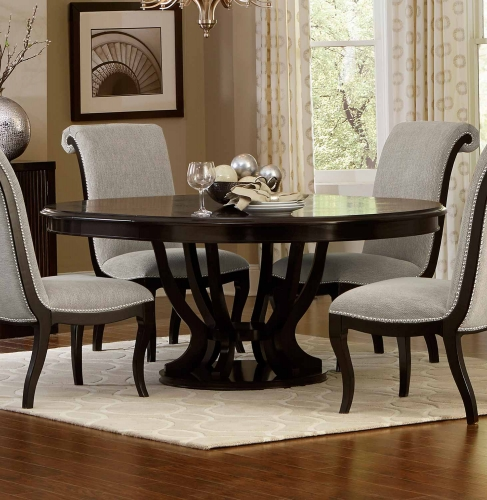 Savion Round/Oval Dining Table with Leaf - Espresso