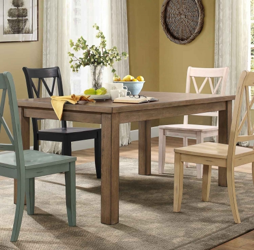 Janina Rectangular Dining Table - Natural Finish/Pine Veneer