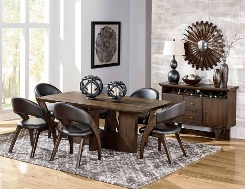 Onofre Dining Set - Brown