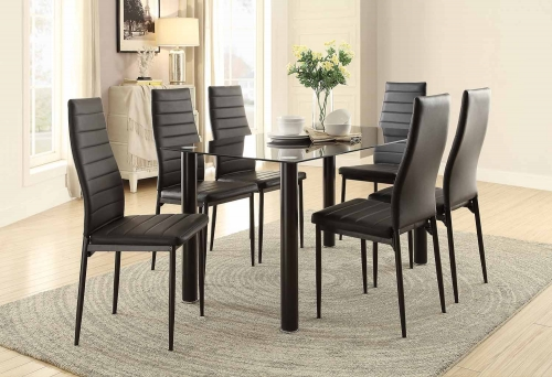 Florian Rectangular Black Dining Set