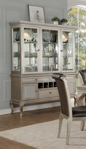 Crawford China Cabinet - Silver