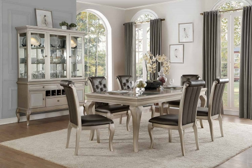 Crawford Dining Set - Silver