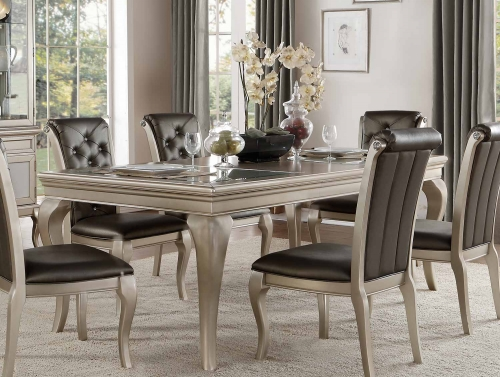 Crawford Dining Table with Leaf - Silver