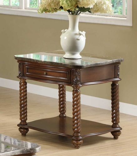 Lockwood End Table - Brown Mahogany