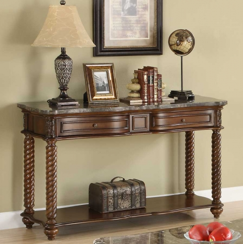Lockwood Sofa Table - Brown Mahogany