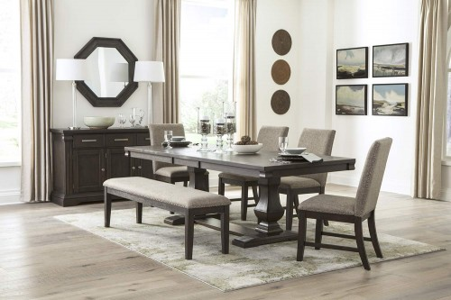 Southlake Dining Set - Wire-brushed Rustic Brown