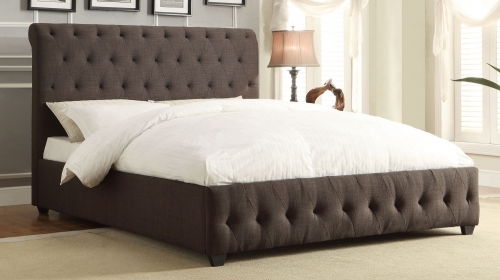 Baldwyn Upholstered Bed - Dark Grey