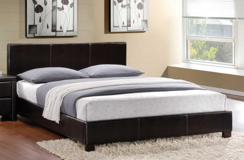 Zoey Platform Bed - Dark Brown