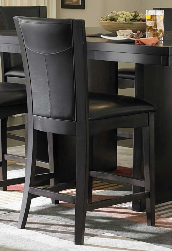 Daisy Counter Height Chair in Dark Brown Leatherette