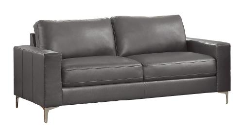 Iniko Sofa - Gray Leather Gel Match