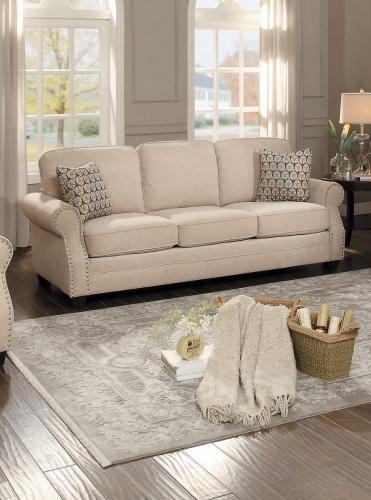 Bechette Sofa - Natural Tone Fabric